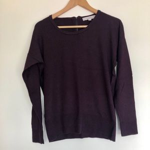 "LOFT Sweater with 5 1/2"" Back Zipper"